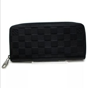 Louis Vuitton Zippy Wallet Black Damier Infini